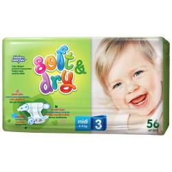 Детские подгузники Helen Harper Soft & Dry Midi (4-9кг) 56шт