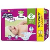Детские подгузники Helen Harper Baby Mini (3-6 кг) 78 шт